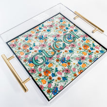 Load image into Gallery viewer, Large Serving Platter | Floral Gucci