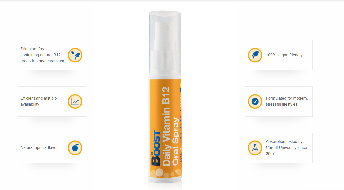 Vitamin B12 Oral Vitamin Spray Features