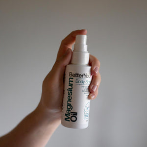 BetterYou Magnesium Oil spraying