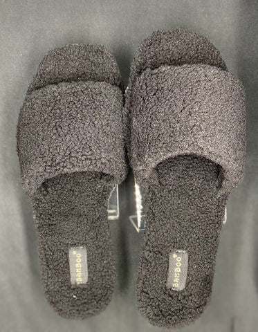 Black Cozy Lounge Slides
