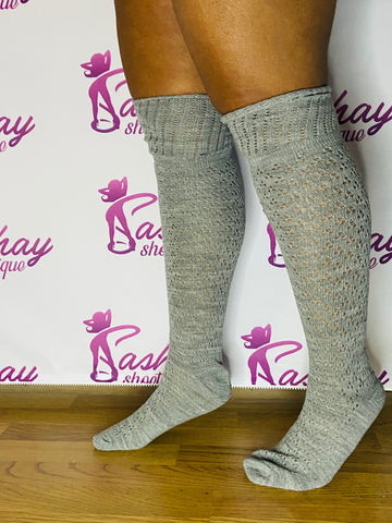 Tall Fashion Knit Socks