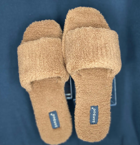 Brown Cozy Lounge Slippers