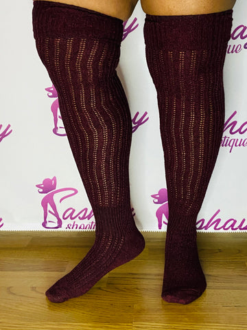 Extra Long Thigh High Fashion Socks