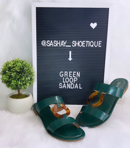 Green Loop sandal