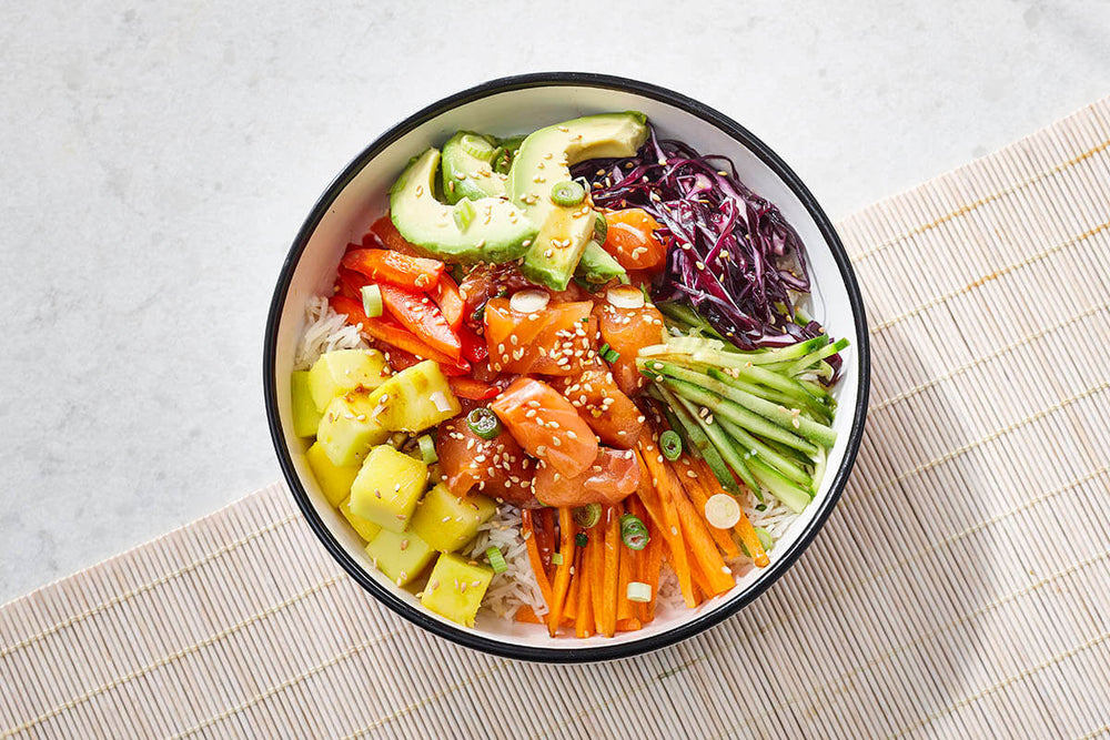 Maple-Salmon Poke Bowls