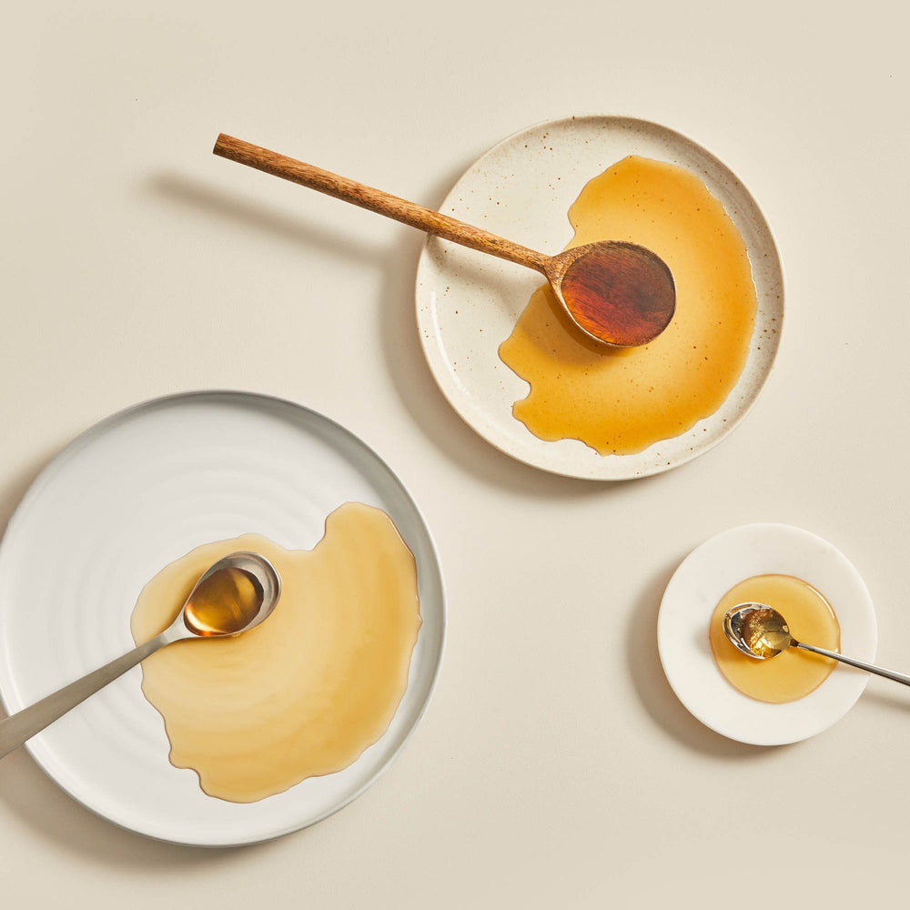 Maple Syrup in plates - Maple Products | Bretelles