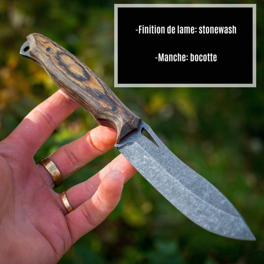 Opus Knives Physical Ness Wolf Chasse Nessmuk Couteau Personnalisé