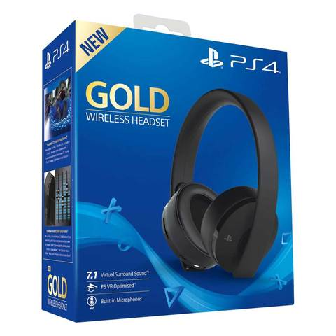 Sony PS4 Wireless Headset Stereo Gold