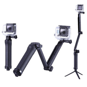 Ozone - 3 Way Stabilizer Grip Monopod Arm with Mini Tripod For Gopro Hero5 Hero4 Hero3 SJCAM Camera