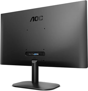 "AOC 21.5"" Led Monitor with HDMI/VGA Port, Full HD, Wall Mountable, 3 Side Borderless,Black - 22B2HS"