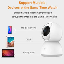 Charger l'image dans la galerie, Xiaomi - 360 degree Home Camera, 1080P HD Wireless IP Security Camera Pan/Tilt/Zoom Indoor Surveillance System with Night Vision, Motion Detection and Baby Crying Detection, Remote Monitor with iOS, Android