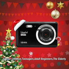 Charger l'image dans la galerie, 2.8 inch LCD Rechargeable HD Mini Digital Camera, Vmotal Video Camera Digital Students Cameras 12 MP/HD Compact Camera Sports,Travel,Holiday,Birthday Present for Kids/Beginners/Teens/Seniors (Black)