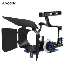 Charger l'image dans la galerie, Andoer-C500 Aluminum Alloy Camera Camcorder Video Cage Rig Kit Film Making System with 15mm Rod Matte Box Follow Focus Handle Grip for Panasonic GH4 for Sony A7S/A7/A7R/A7RII/A7SII