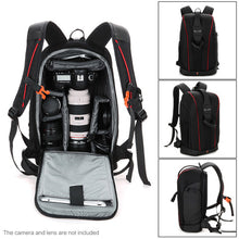 Charger l'image dans la galerie, Generic-Camera Lens Black Photography Padded Shockproof Water-resistant Backpack Bag Case for Nikon Canon Sony DSLR Camera Accessories