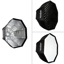 Charger l'image dans la galerie, Godox-SB-UE 80cm / 31.5in Portable Octagon Honeycomb Grid Umbrella Softbox with Bowens Mount for Speedlite