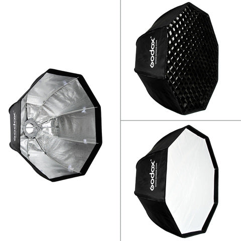 Godox-SB-UE 80cm / 31.5in Portable Octagon Honeycomb Grid Umbrella Softbox with Bowens Mount for Speedlite