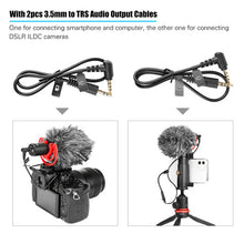 Charger l'image dans la galerie, OYA-BY-MM1+ Professional Video Audio Recording Microphone On-Camera Mic Super Cardioid Pickup Pattern Condenser Microhones for Smartphone DSLR DV Live Streaming Interviewing