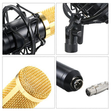 Charger l'image dans la galerie, Generic-BM800 Condenser Microphone Lit Pro Audio Studio Recording & Brocasting Adjustable Mic Suspension Scissor Arm Pop Filter