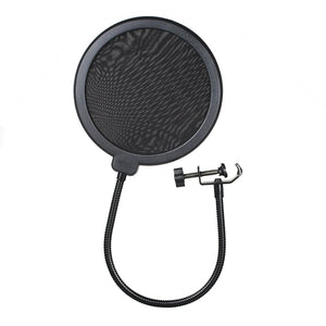 Generic-BM800 Condenser Microphone Lit Pro Audio Studio Recording & Brocasting Adjustable Mic Suspension Scissor Arm Pop Filter