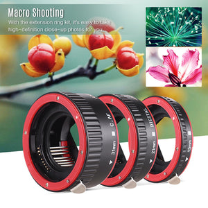 Andoer-Portable Auto Focus AF Macro Extension Tube Adapter Ring (13mm +21mm +31mm) for Canon EOS EF EF-S Mount Lens for Canon 60D 7D 5D II 550D 7% DISCOUNTOffer ends 02 November