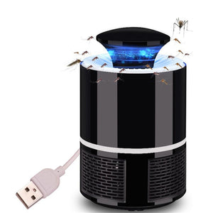 Decdeal - Electronic Mosquito Killer Lamp USB Power Anti-Mosquito Fly Inhaler Insect Mosquitoes Killer Bug Zapper Non-toxic Eco-friendly Mosquito Trap Light