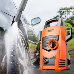 Generic-1200W Electric Pressure Washer 90Bar 5L/Min High Pressure Washer Portable Car Washer with Quick-Connect Hose Bike Motorcycle Cleaner Machine Watering Flowers