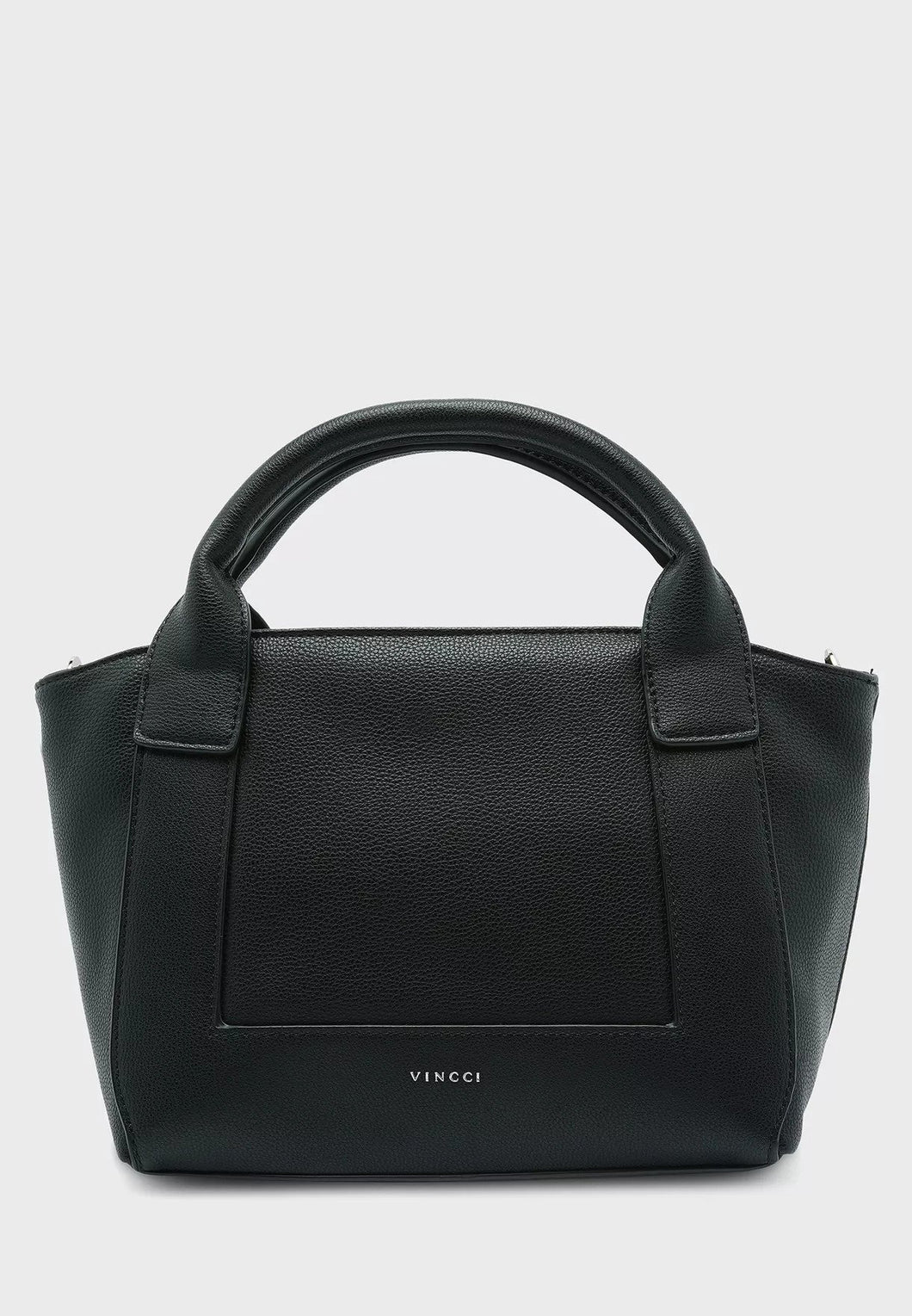 VINCCI Zip Closure Satchel