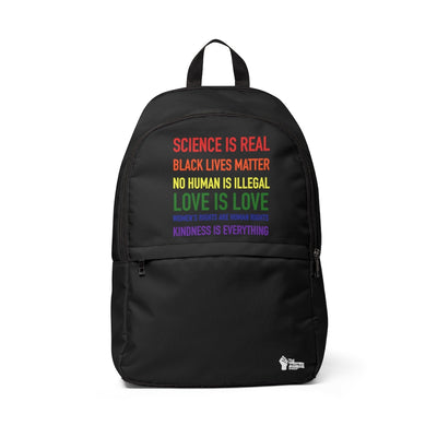 BLM Science Is Real Backpack - The Protest Shop