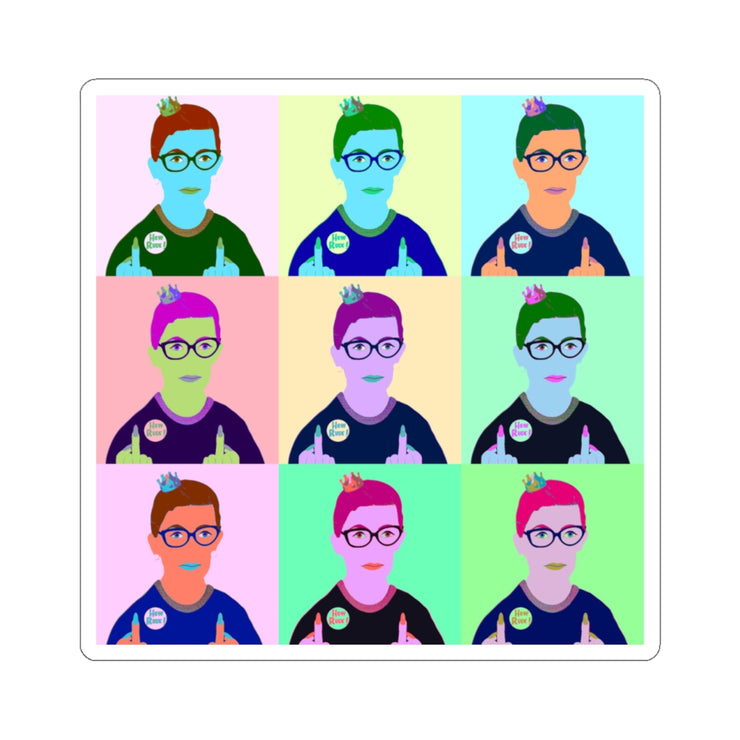 RBG Pop Art Sticker - The Protest Shop