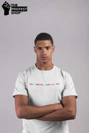 Men's Treat People With Justice Tee - The Protest Shop