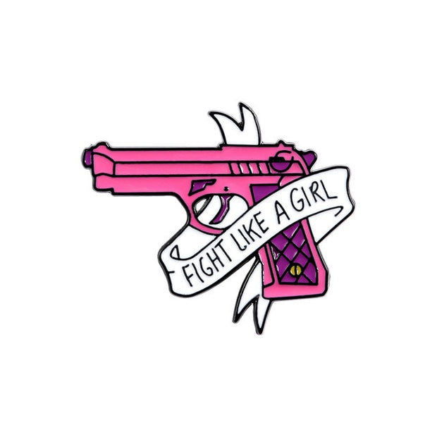 Pink Feminist Enamel Pins - The Protest Shop