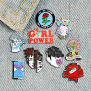 Pretty Female Designer Metal Enamel Feminism Badge Pins - The Protest Shop