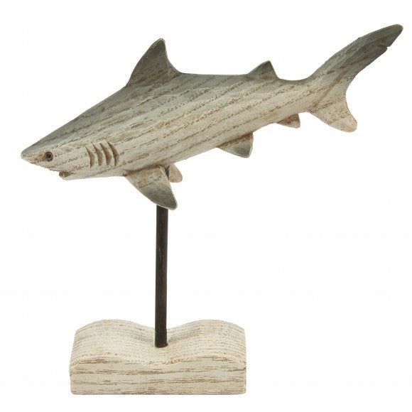 Wooden Shark on Stand