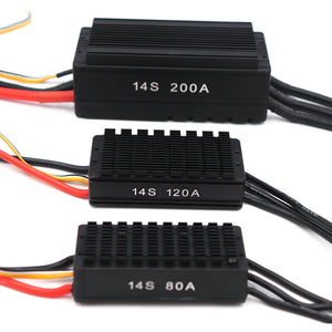 14S 120A HV waterproof ESC for RC boat Quadcopter Drone Plant protection aircraft
