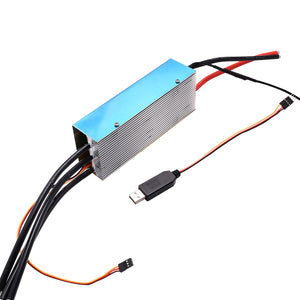 FRC 380A 2-22S HV ESC brushless speed controller with USB program cable for airplane Paramotor Paraglider