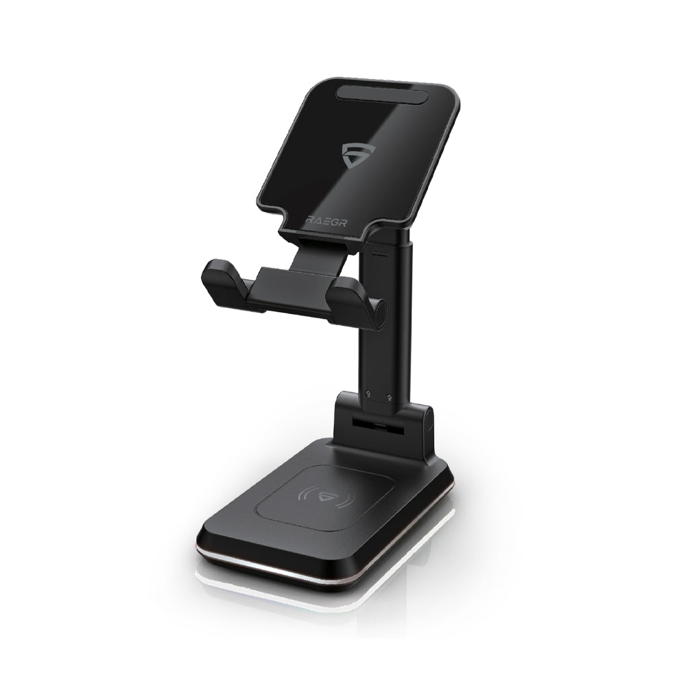 RAEGR Arc 1200 [2-in-1] 10W+10W Wireless Charger Adjustable Stand [with 2 Type-C Cables]