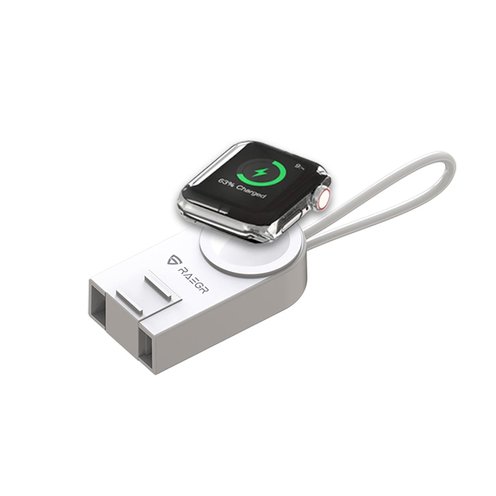 RAEGR Arc 450 Portable Apple Watch Wireless Charger With Apple Cable For AirPods & IPhones