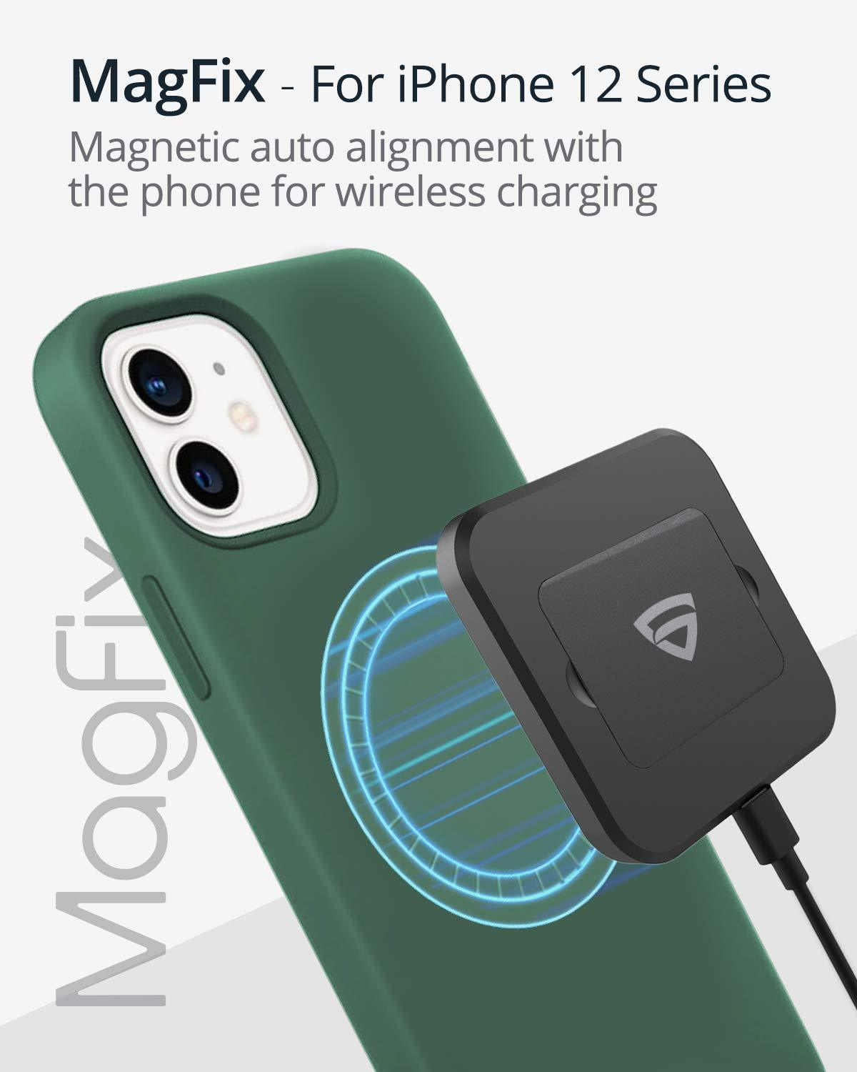 RAEGR MagFix Arc M940 15W Mag-Safe Wireless Charger / Magnetic Charging Pad