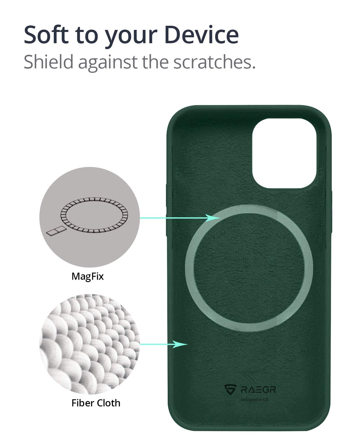 RAEGR iPhone 12 / iPhone 12 Pro 5G MagFix Magnetic Case, Supports Mag-Safe Wireless Charging 6.1