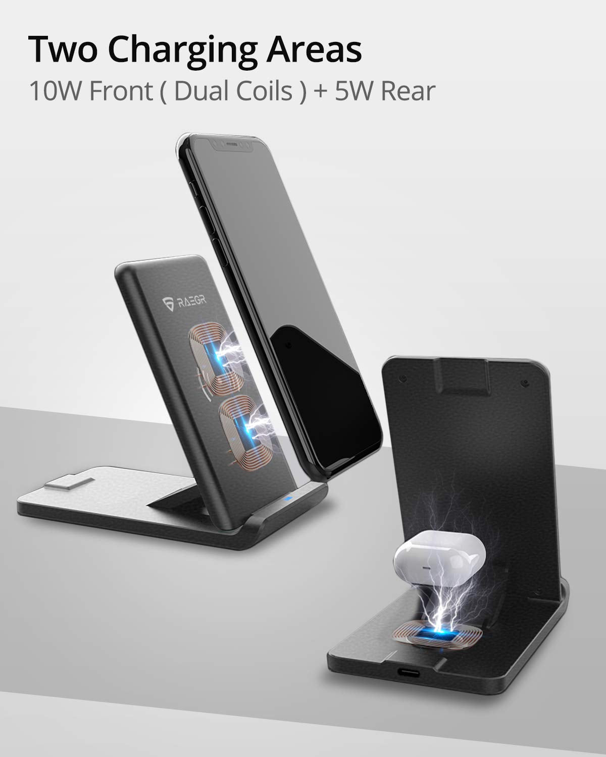 RAEGR Arc 1100 [2-in-1] Wireless Charging Stand