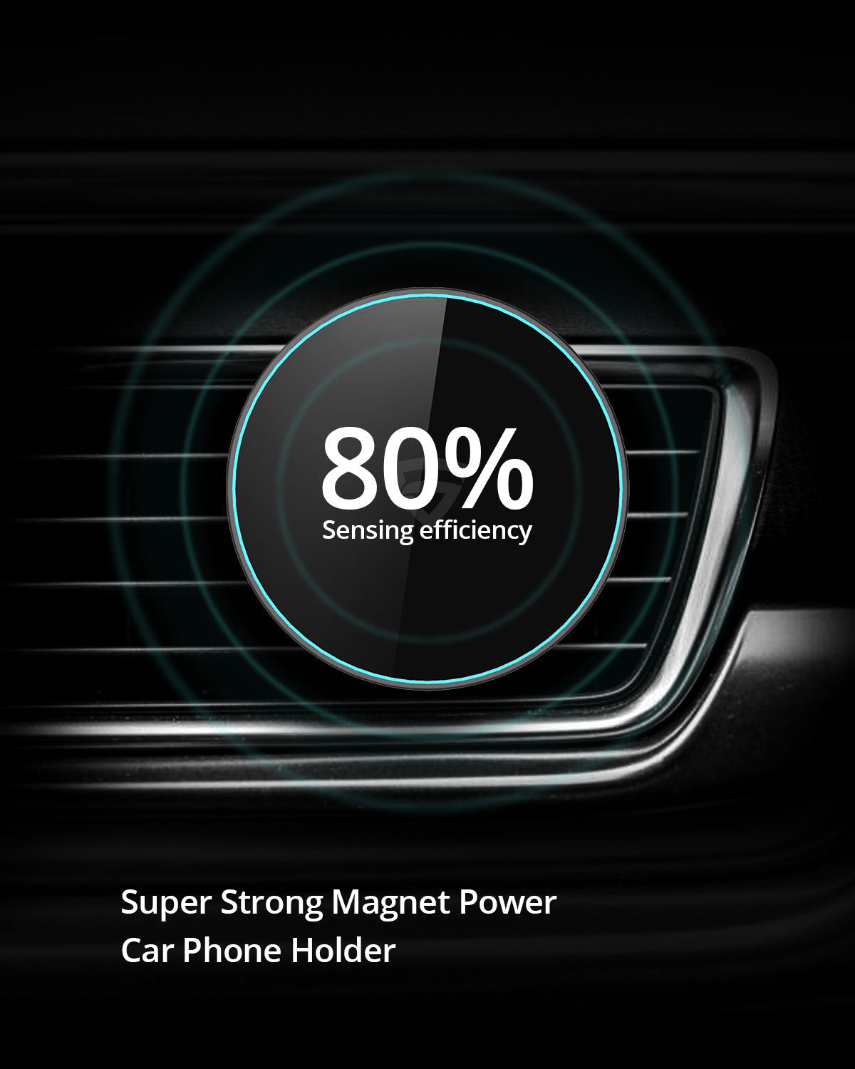 RAEGR MagFix Arc M1230 15W Mag-Safe Wireless Car Charger / Wireless Charging Magnetic Mount