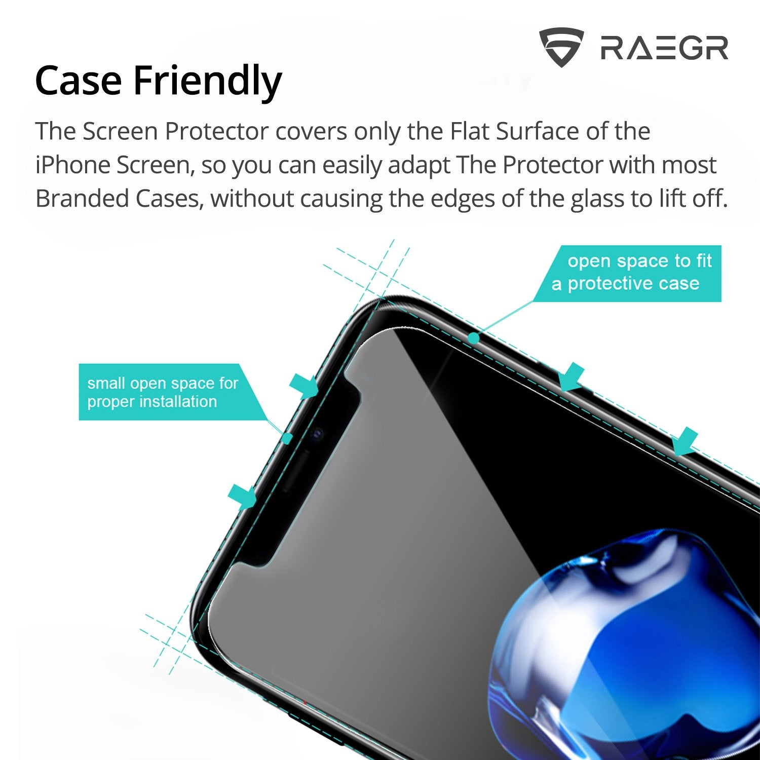 RAEGR EZ Fix Glas HD iPhone 11 Pro Max / iPhone XS Max Full Cover Tempered Glass