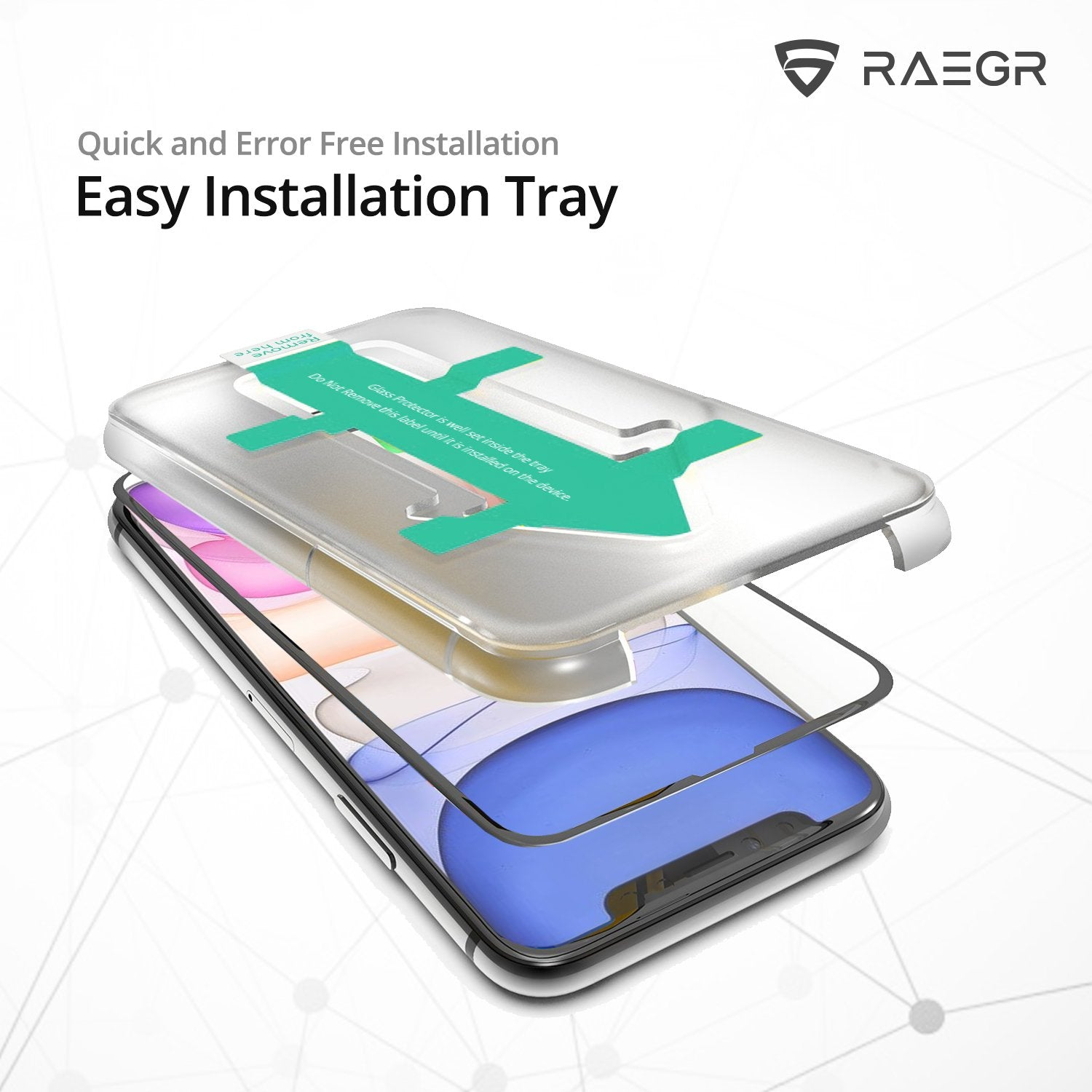 RAEGR EZ Fix 3D Glas HD iPhone 11 Pro Full Cover Tempered Glass