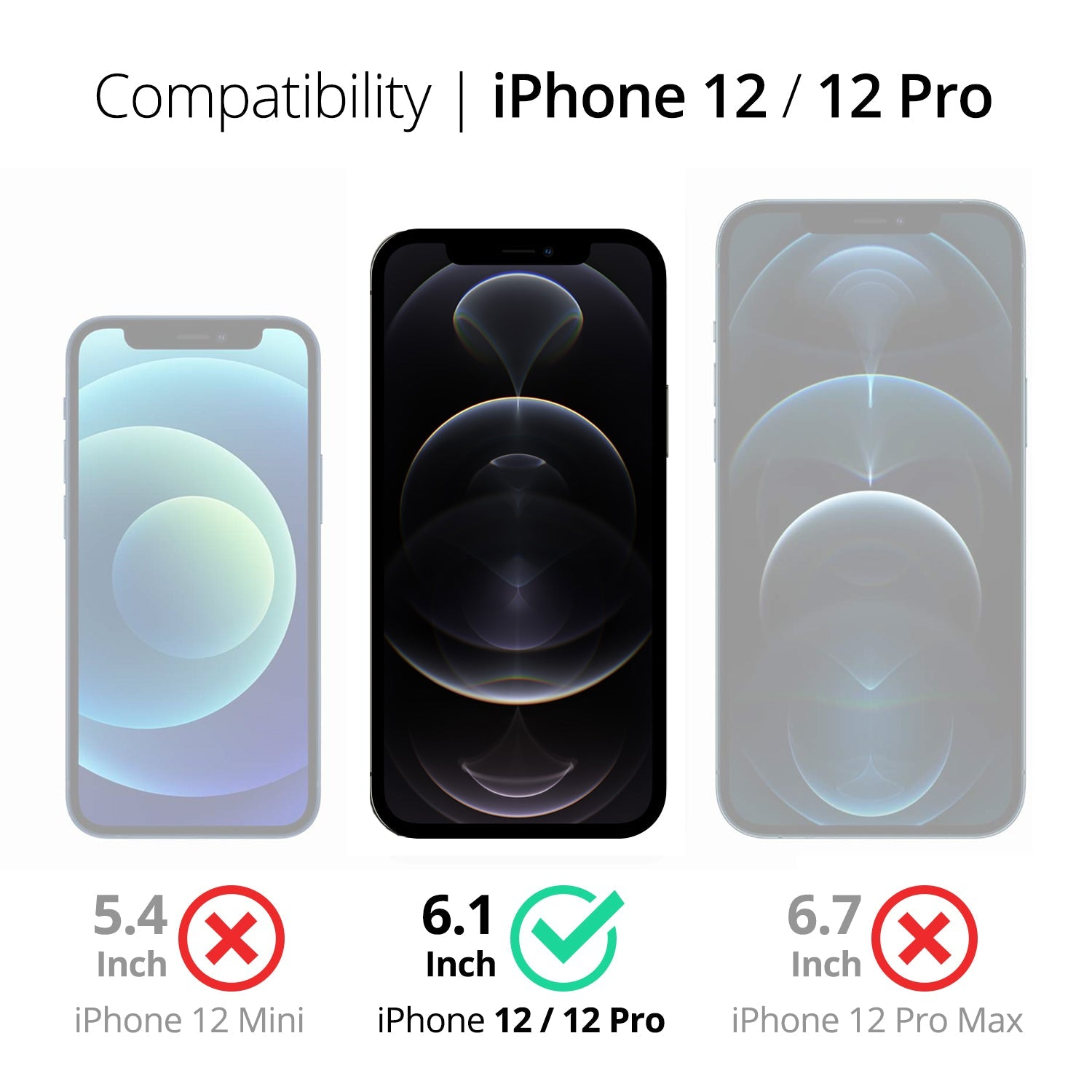 RAEGR EZ Fix Glas HD iPhone 12 / iPhone 12 Pro Privacy Tempered Glass
