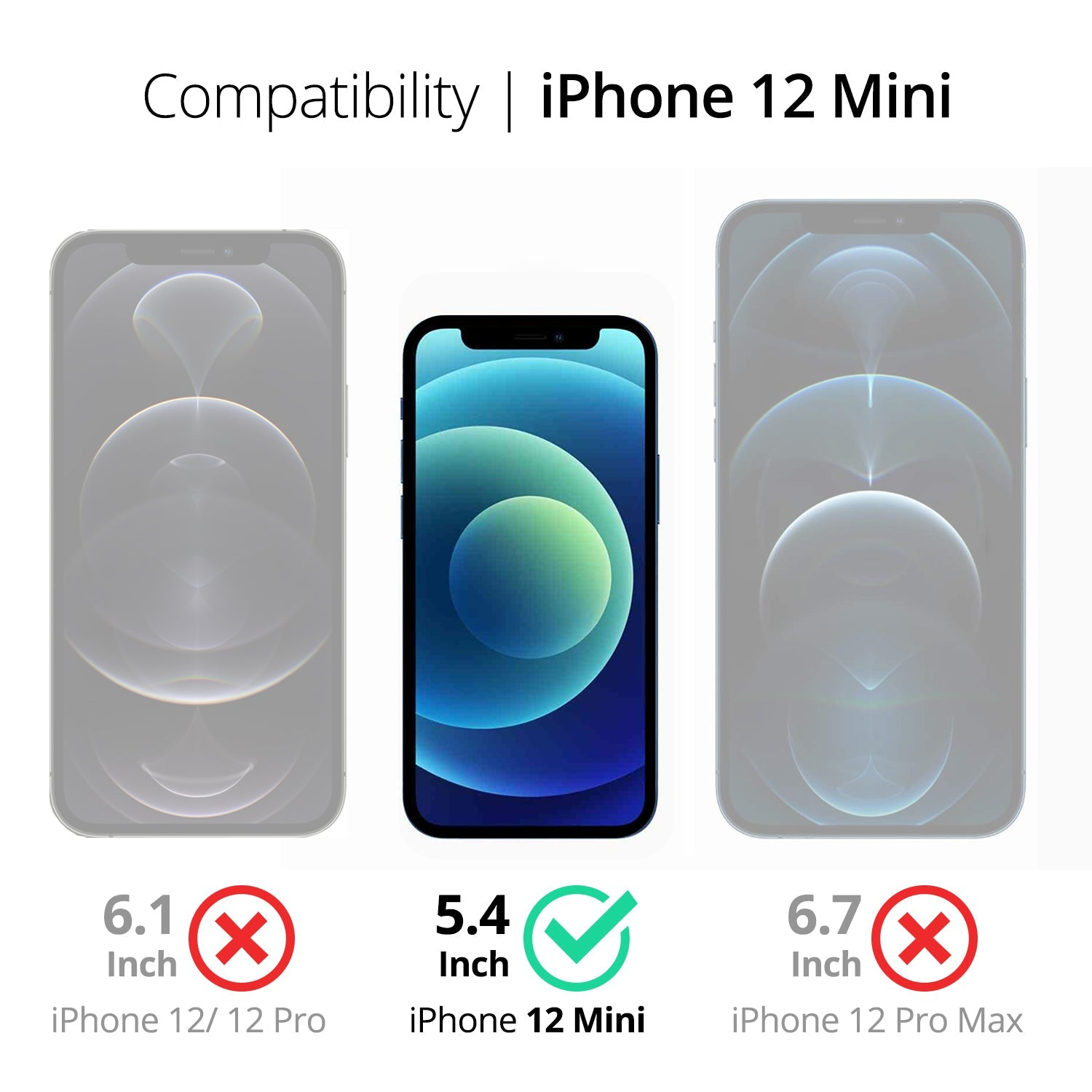 RAEGR EZ Fix Glas HD iPhone 12 Mini Full Cover Tempered Glass
