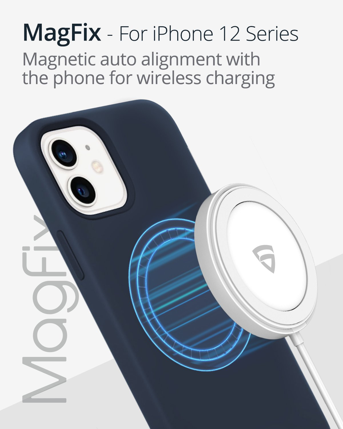 RAEGR MagFix Arc M900 15W Mag-Safe Wireless Charger / Magnetic Charging Pad