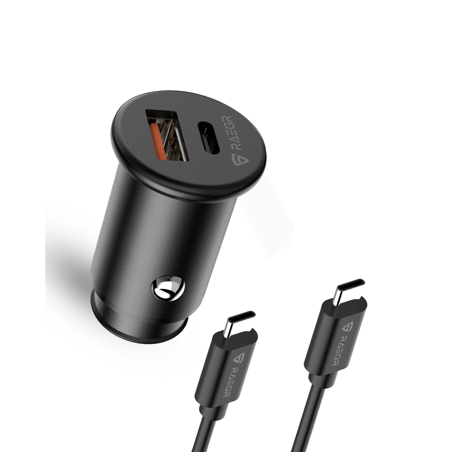 RAEGR RapidLink 400 USB+C Type Car Charger with 20W PD & 18W QC 3.0 Dual Port 3.0 Dual Port Fast Car Adapter
