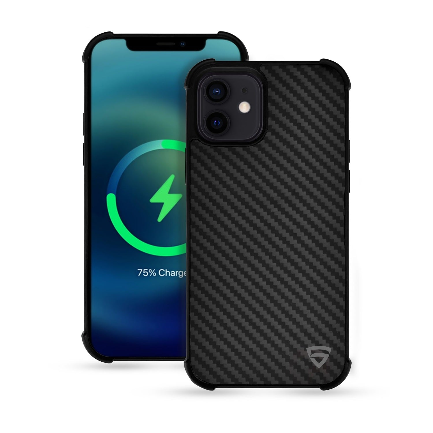 "RAEGR iPhone 12 Mini 5G MagFix Magnetic Case, Supports Mag-Safe Wireless Charging 5.4""- Elements Armor Case with Real Aramid Carbon Fiber"