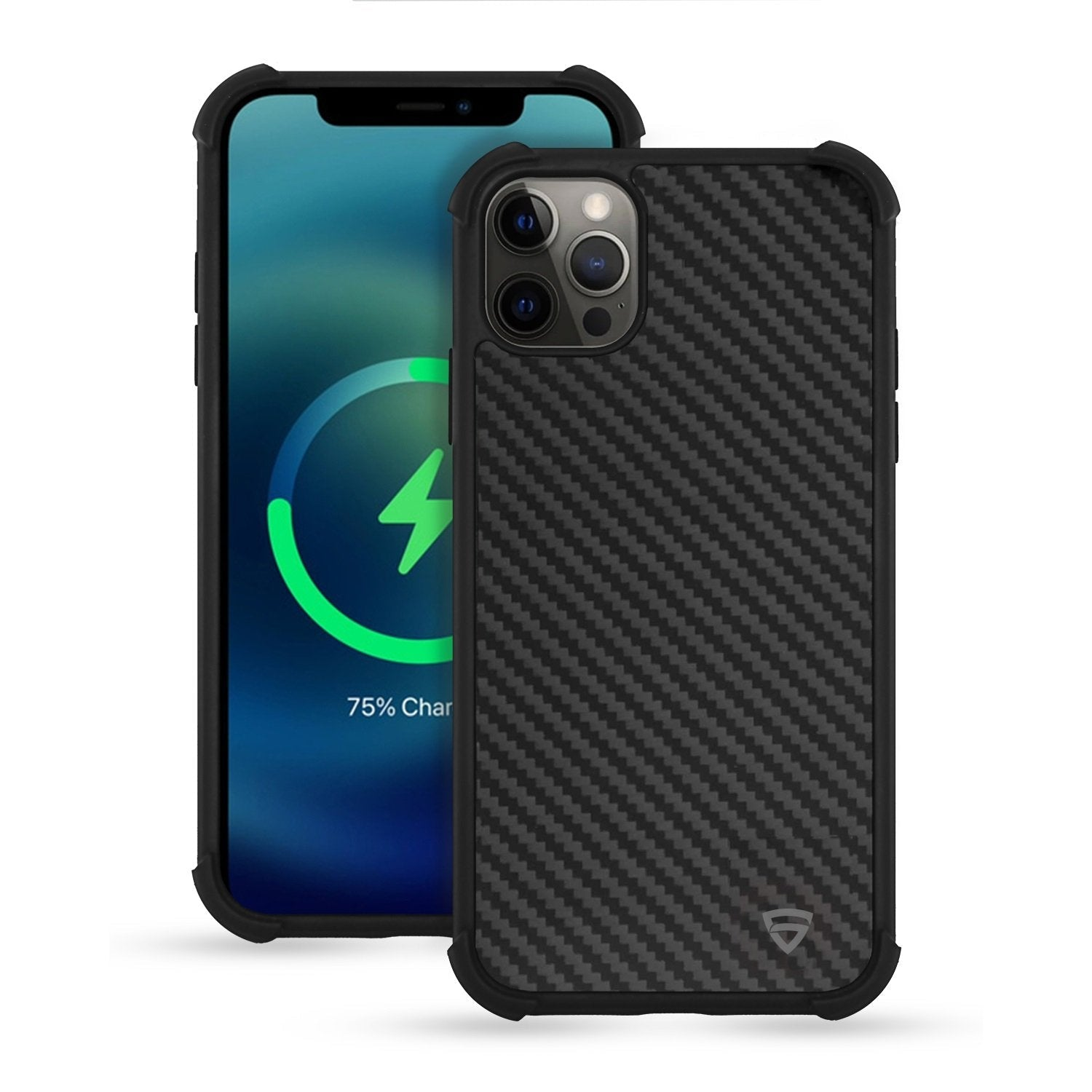 "RAEGR iPhone 12 / iPhone 12 Pro 5G MagFix Magnetic Case, Supports Mag-Safe Wireless Charging 6.1""- Elements Armor Case with Real Aramid Carbon Fiber"