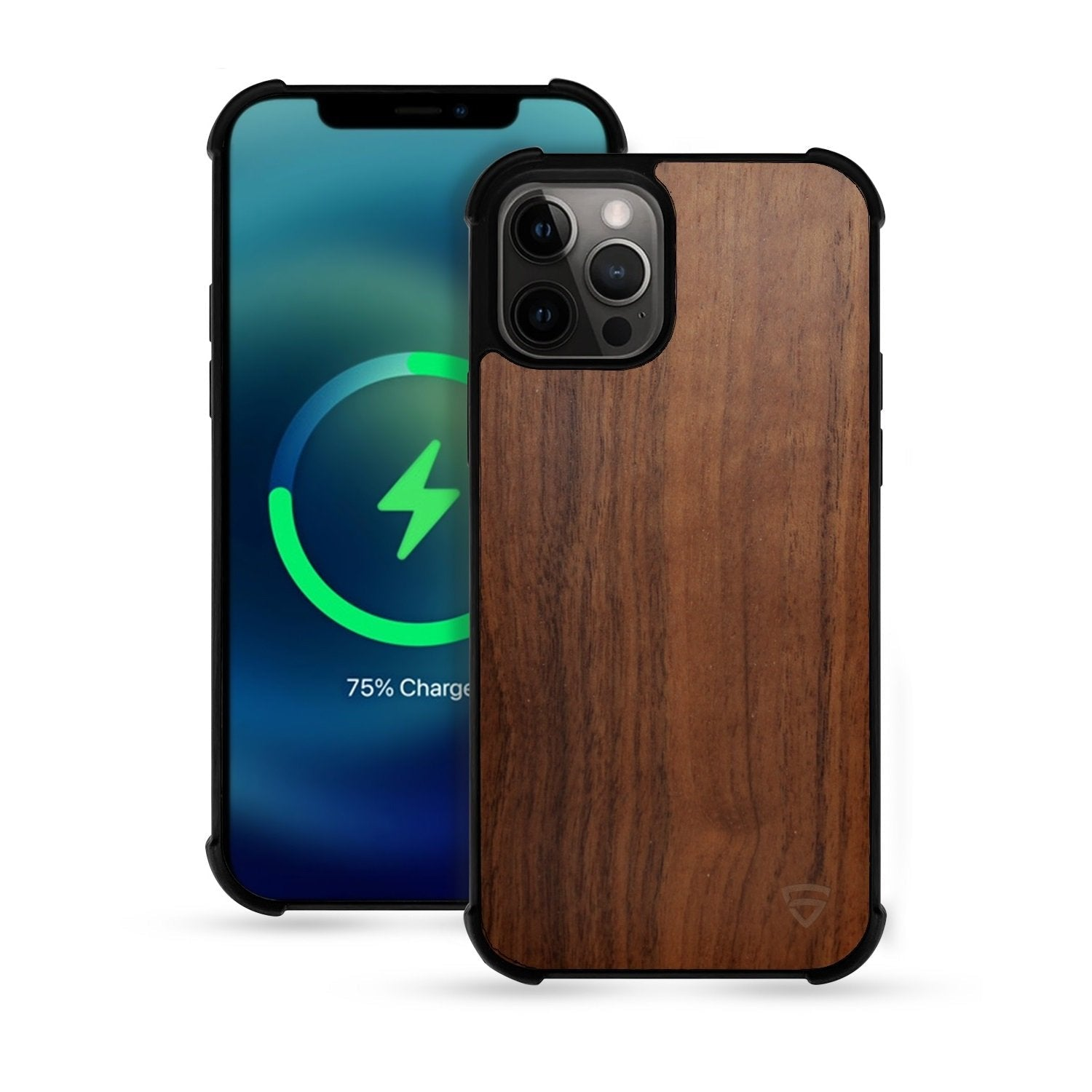"RAEGR iPhone 12 Pro Max 5G MagFix Magnetic Case, Supports Mag-Safe Wireless Charging 6.7""- Elements Armor Case with Real Wood"